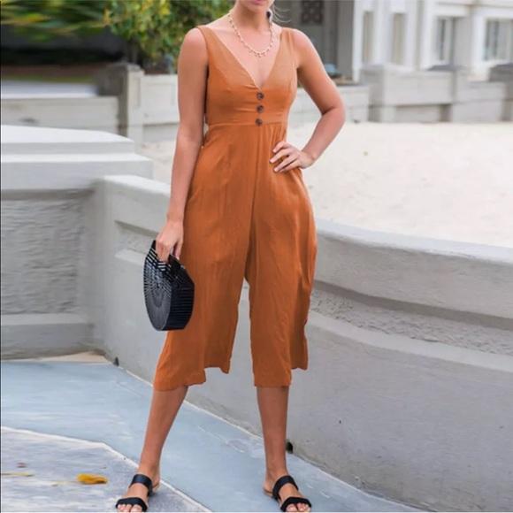 diviine Pants - Dark orange jumpsuit